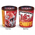 3 Gallon K.C. Chiefs............... Gourmet Popcorn Tin
