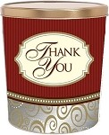 Gourmet Popcorn Tin 3 1/2 Gallon Classic Thank You