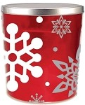Gourmet Popcorn Tin 3 1/2 Gallon Let it Snow