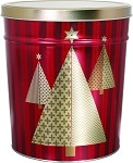 Gourmet Popcorn Tin 3 1/2 Gallon Christmas Tree