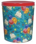 Gourmet Popcorn Tin 3 1/2 Gallon Birthday