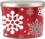 Gourmet Popcorn Tin 2 Gallon Let It Snow