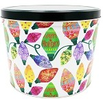 Gourmet Popcorn Tin 2 Gallon Holiday Lights