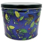 Gourmet Popcorn Tin 2 Gallon Holly & Pine
