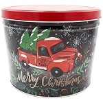 Gourmet Popcorn Tin 2 Gallon Tree Farm Truck