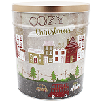 Gourmet Popcorn Tin 3 1/2 Gallon Cozy Christmas