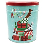 Gourmet Popcorn Tin 3 1/2 Gallon Jingle Pups