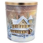 Gourmet Popcorn Tin 3 1/2 Gallon Home For The Holidays