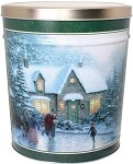Gourmet Popcorn Tin 6 1/2 Gallon Skaters Pond