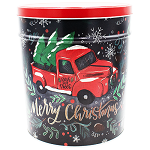 Gourmet Popcorn Tin 6 1/2 Gallon Tree Farm Truck