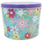 Gourmet Popcorn Tin 2 Gallon Flower Blossoms