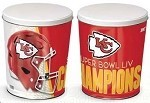 3 Gallon K.C. Chiefs Superbowl 54 Gourmet Popcorn Tin
