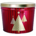 Gourmet Popcorn Tin 2 Gallon Christmas Tree